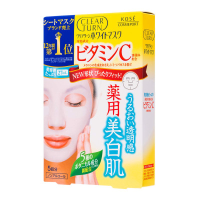 KOSE Clear Turn White Mask Vitamin C  (5 шт.)